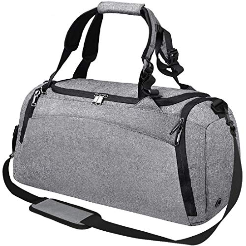 Sports Gym Duffel Bag with Shoe Compartment Waterproof Travel Holdall Large Sport Bag for Men 40 L Black