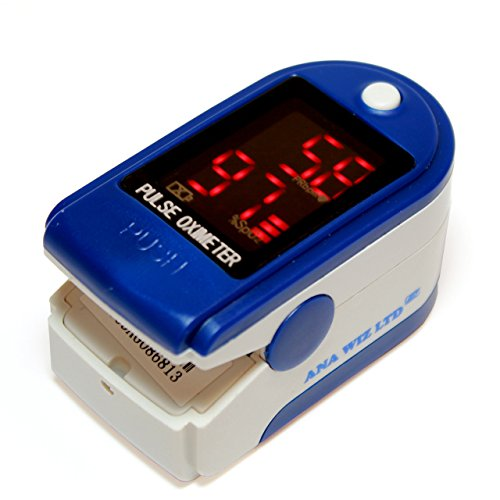 Anapulse ANP100 Finger Pulse Oximeter With LED Display (Includes Carrycase, Batteries and Lanyard)