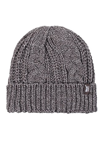 HEAT HOLDERS Ladies 1 Pack Heat Weaver Cable Knit Hat - Fawn - One Size