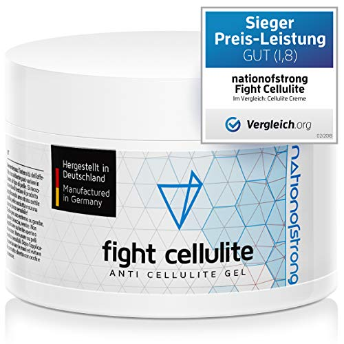 Fight Cellulite | 225ml Anti Cellulite Cream for legs, butt, thighs, belly fat | Quality Made in Germany | Stretch Mark & Fat Burning Cream | Firming Body Lotion for Skin Tightening | Value Size