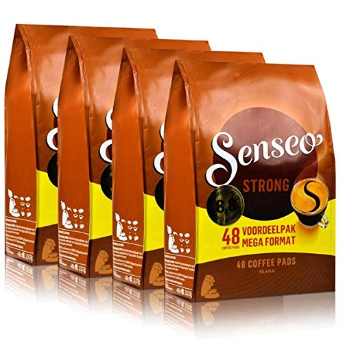 Senseo Dark / Strong Roast, Pack of 4, 4 x 48 Coffee Pods (192 Pads)