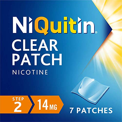 NiQuitin 14mg Clear Patch - Stop Smoking Aid Programme - Step 2 - 7 Clear patches, 7 Days Treatment