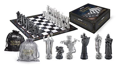 The Noble Collection Harry Potter Wizard Chess Set - 32 Detailed Playing Pieces - Officially Licensed Harry Potter Film Set Movie Props Toys Gifts