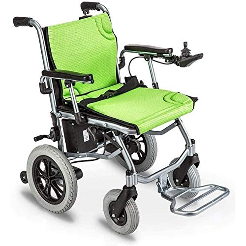 SYN-GUGAI Electric Wheelchair, WheelChair Foldinsg, Power Wheelchair Dual Control System, Lightweight Manual Electric Switching Double Motor for Elderly, Suitable for Elderly and Disabled,A