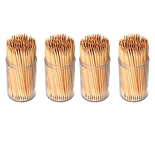 Invero® 600 x Pack of Party Wooden Cocktail Sticks Toothpicks Tooth Picks for Fruit Cherry Cheese Parties