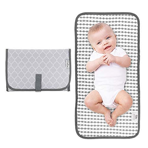 Comfy Cubs Baby Portable Changing Pad, Diaper Bag,Travel Mat Station, Grey Compact