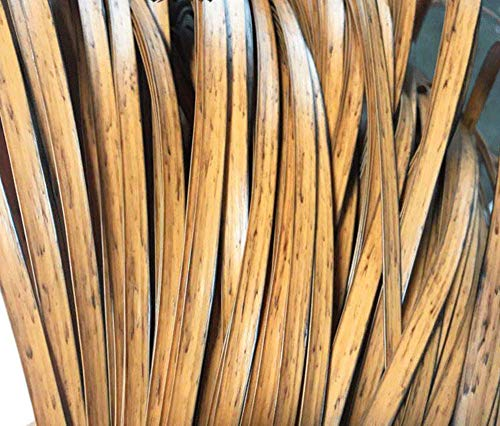 Wood Grain Flat-mouth Woven Rattan Plastic PE Wicker Repair Material, Used for Garden Chairs, Coffee Tables, Patio Furniture, Storage Baskets, Hand-woven DIY Materials (about 220-260 Feet In Length)