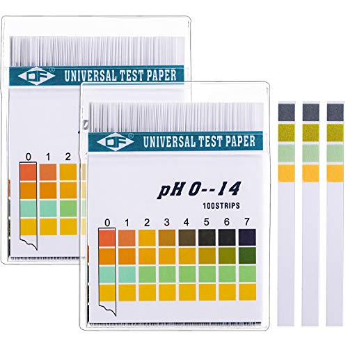 Universal pH Test Paper Strips for Test Body Acid Alkaline pH Level, Skin Care, Aquariums, Drinking Water, with 4 Testing Panels for Increased Accuracy, Measure Full Range 0-14