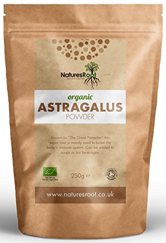 Natures Root Organic Astragalus Root Powder 500g - Boost Vitality   Promotes Healing   Reduces Fatigue   Helps Digestion