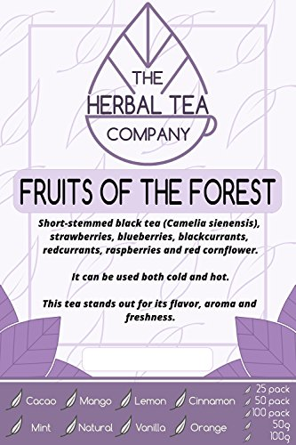 Lapacho Fruits of The Forest Tea Blend Tea Bags with Orange Flavour 50 Pack