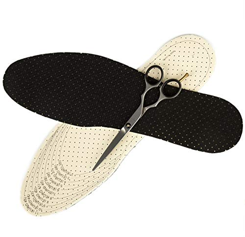 Perfection Comfort Insoles Full Length Cut to Size Black Insoles for UK Shoe Size 2 to 11