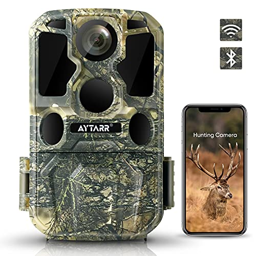 4K Lite (2.7K) 24MP WiFi Wildlife Camera, Bluetooth 850nm Low Glow IR Night Vision Hunting Game Camera with 120 ° 65ft Motion Activated 0.2s Trigger Speed IP65 Waterproof