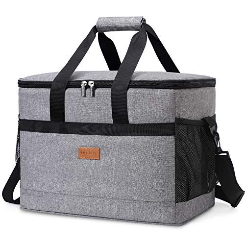 Lifewit 30L (50-Can) Soft Cooler Bag with Hard Liner, Large Insulated Picnic Lunch Bag Box Soft-Sided Cooling Bag for Camping/BBQ/Family Outdoor Activities