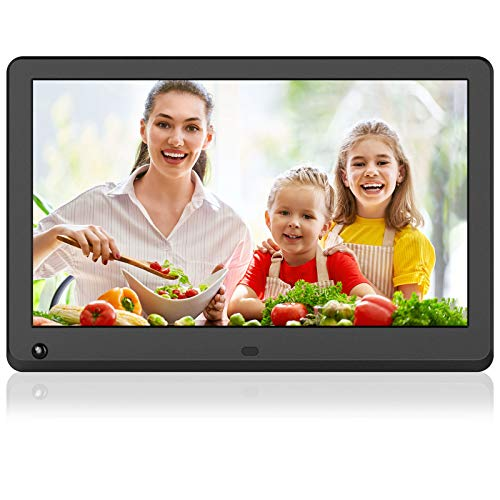 MELCAM Digital Photo Frame 12 Inch 1920x1080 High Resolution Full IPS Display Motion Sensor Digital Picture Frame Auto-Rotate Electronic Picture Frame Video Calendar Clock Support SD Card,USB