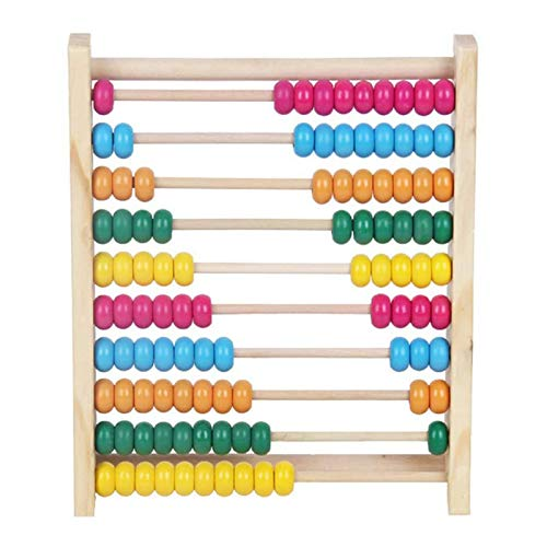 Shoze 100 Beads Wooden Abacus Colorful Beads Calculate Counting Computing Math Numbers Learning Teaching Toy for Baby Children Kids Infant Preschool