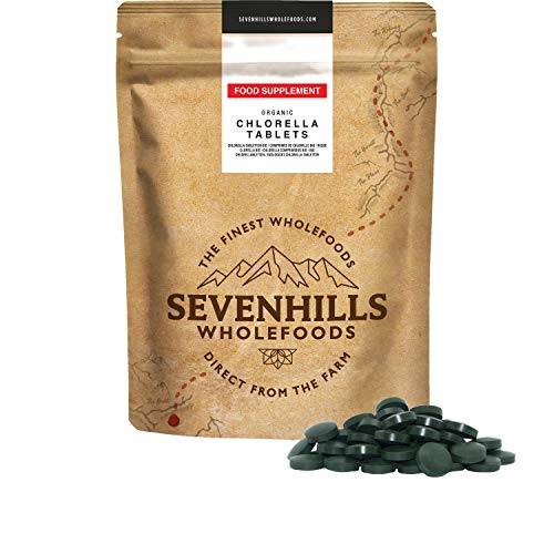 Sevenhills Wholefoods Organic Chlorella Broken Cell Wall 500mg Tablets Pack of 1000, 500g