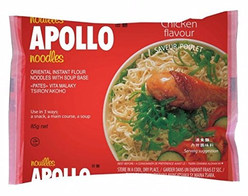 Chicken Flavour Box - Pack of 24 x 85g Apollo - Best Instant Noodles Chinese Style Bowl Recipe New