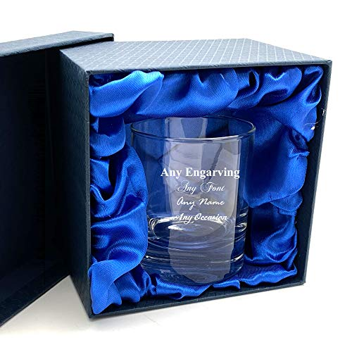 Engraved Personalised Whiskey Glass in Silk Lined Gift Box