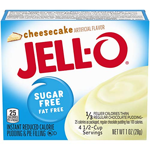 Jell-O Cheesecake Sugar Free Instant Reduced Calorie Pudding and Pie Filling 1 X 28g American Import, 1 Units