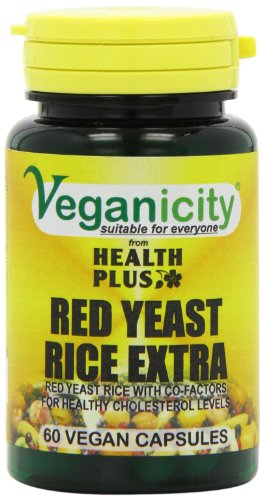 Veganicity Red Yeast Rice Extra Heart Health and Cholesterol Supplement - Pack of 60 Capsules