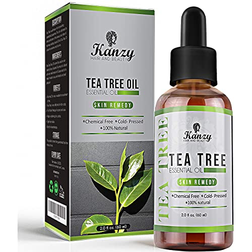 Kanzy Tea Tree Oil for Skin 60ml Treatment for Hair, Face, Acne Blemishes, & Nails Natural Vegan Organic Tea Tree Essential Oil