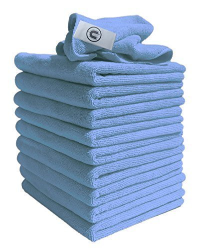 Microfibre Cloths Similar to Exel Magic Cleaning Cloths. Chemical Free Cleaning. Large Super Soft Premium Fibre, Washable Cloth Duster for Car, Motorbike, Domestic Appliances, (Blue,10) Industrial use (Blue, 10)