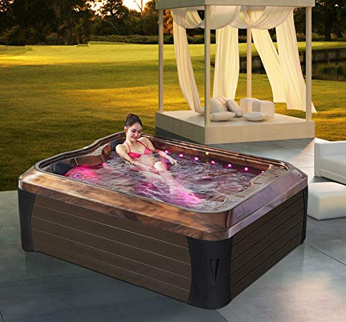 Haisland Best indoor redetube sex massage whirlpool with 2 person loungers balcony outdoor spa bath hot tub bathtubs Jacuzzi M-3392