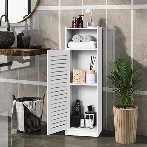 Waterproof Bathroom Cabinets, Storage Accessories Floor Standing Cabinet for Bathroom,Furniture for Bathroom Bedroom Kitchen Hallway,Storage Cupboard Unit with Daily use Layer 80x20x24cm