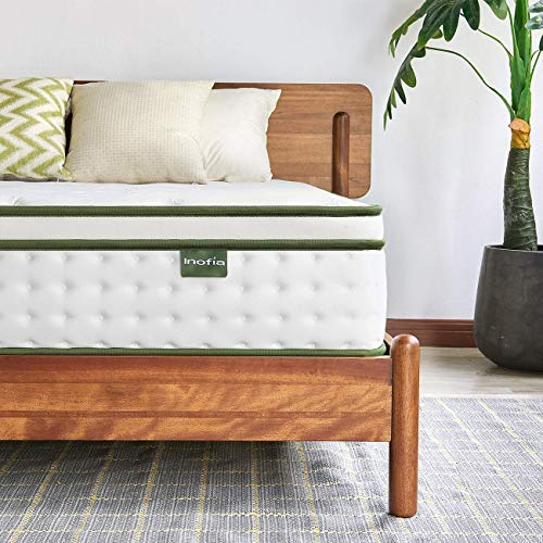 Inofia Sleep 4FT6 Double Mattress, 25cm Hybrid Innerspring Mattress in a Box,9 Zoned Support Mattress Gives Advanced Pressure Point Relief,the HOPE Collection(Double(135x190x25cm))