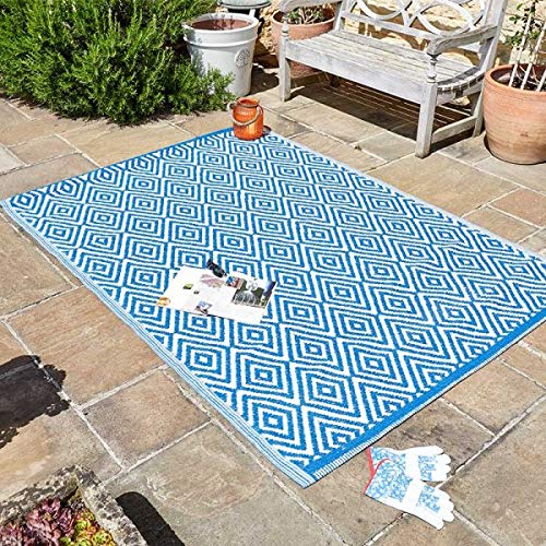 garden mile® Large Al Fresco Area Rugs Indoor Outdoor Patterned Rug Patio Terrace Balcony Hall Kitchen Carpet Rugged and Water Resistant 100% Polypropylene (Adana)