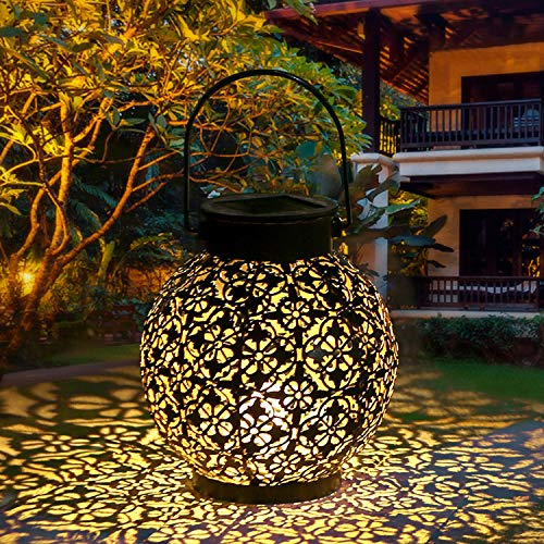 Tomshine Solar Powered Garden Lantern Dusk to Dawn Auto On and Off,Waterproof for Farmhouse,Patio Yard and Decorative Atmosphere Pack of 1