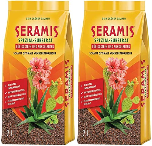 Seramis Clay granules as a plant soil replacement for cacti and succulents, special substrate, 14 litres