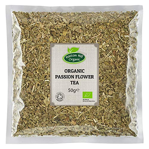 Organic Passion Flower Tea 50g by Hatton Hill Organic - Free UK Delivery