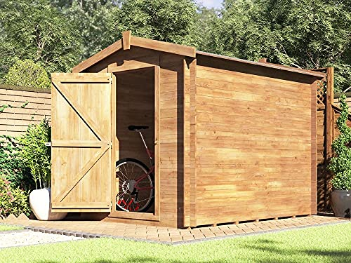 Dunster House 8x6 Garden Shed Pressure Treated Wooden Storage Windowless Bike Tools - Taarmo™