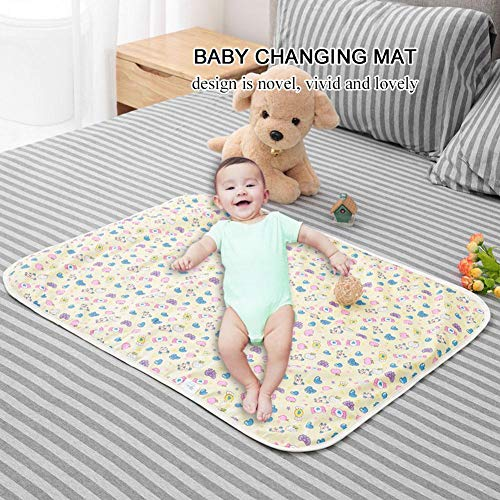 Urine pad, Cotton Waterproof Newborn Baby Changing Mat Portable Cartoon Kids Changing Nappy for Baby Toddler Children and Adults with Incontinence 23.6x31.5inch (Sweet)