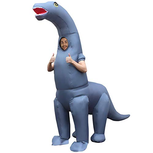 Morph Gonflable Costume, Homme, MCGIDI, Diplodocus Dinosaure Adultes, Taille Unique