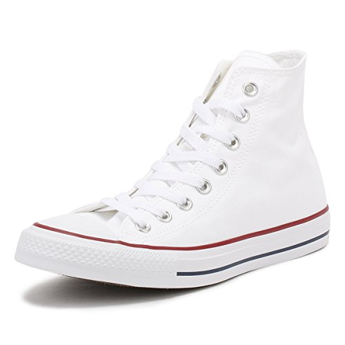Converse All Star Hi Canvas Baskets Blanches Optiques -UK 6