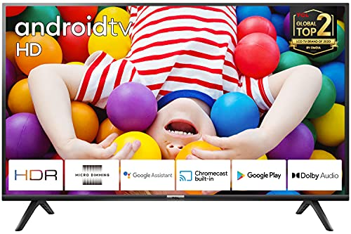TCL 32ES561 TV LED 80 cm (32 pouces) Smart TV (HD, Triple Tuner, Android TV, Prime Video, HDR, Micro Dimming, Dolby Audio, Google Assistant)