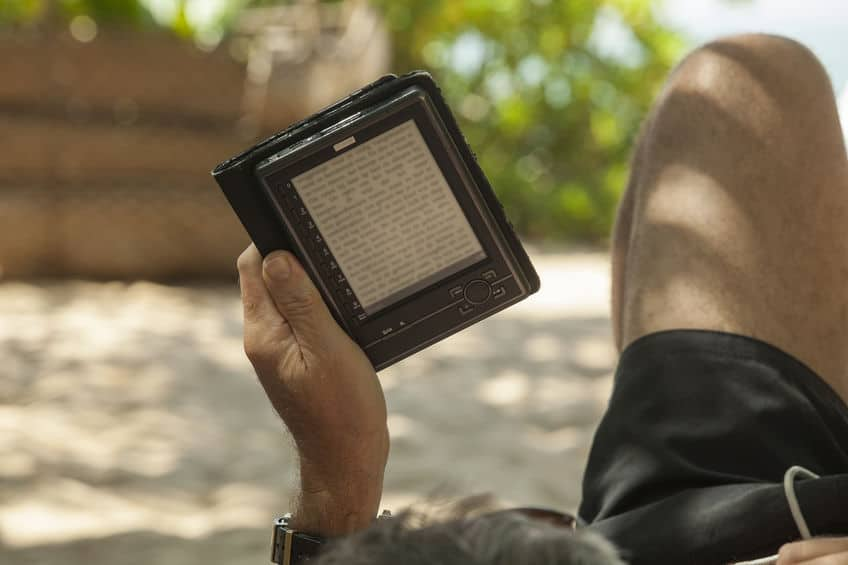 Kindle en la playa
