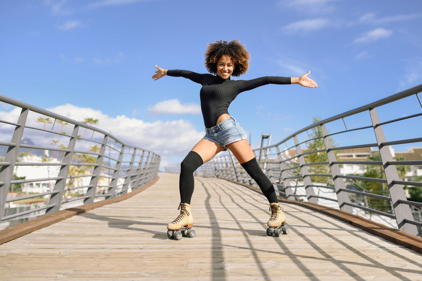 Chica con afro