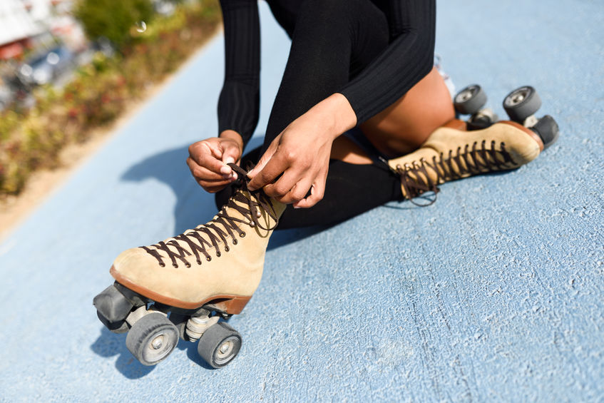 Chica con patines