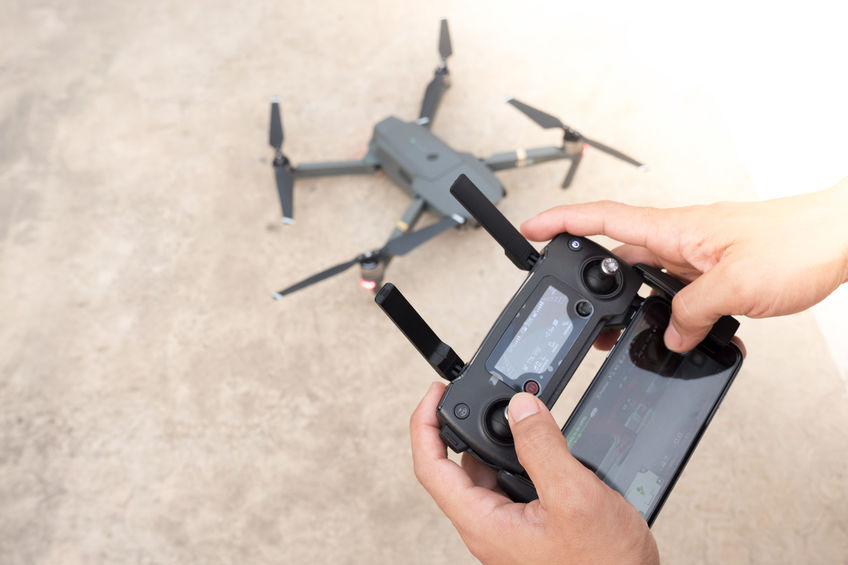 Controlling a remote helicopter drone with smartphone preview