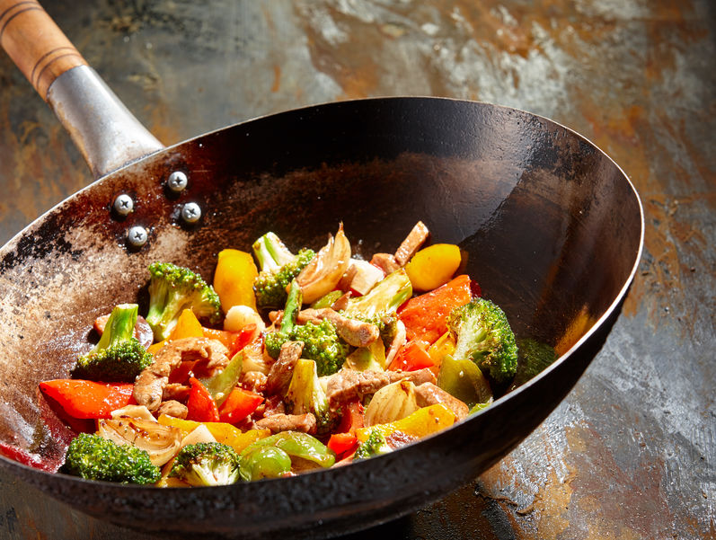 Tasty vegetable dish with broccoli and peppers