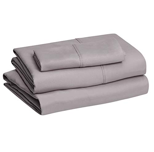 Amazon Basics Lightweight Super Soft Easy Care Microfiber Bed Sheet Set with 14