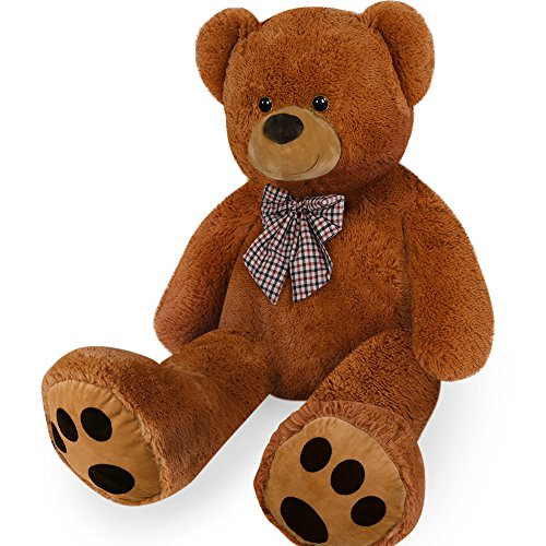 cucunu Teddy Bear Giant Stuffed Animal | Cute and Soft Plush Toy for Boys, Girls and Adults 40 Inches Large Brown White or Tan